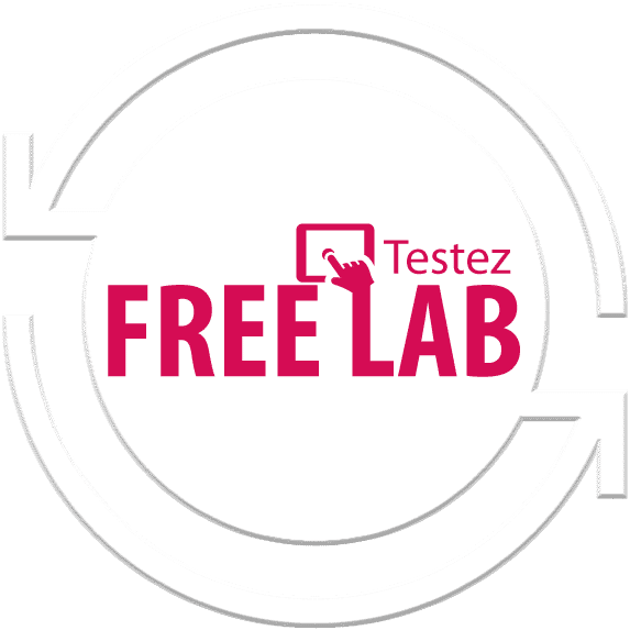 Icône testez Free Lab mouse over